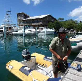 Salinas Yacht Club dinghy dock