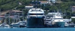 Huge super yachts