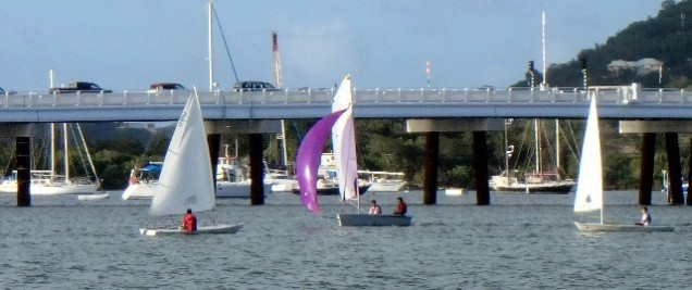 Local dinghy sailors