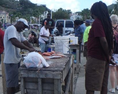 Local fishermen at Marigot Bay