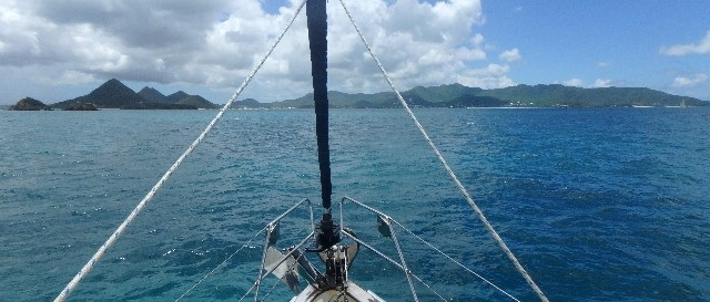 Approaching Jolly Harbour, Antigua