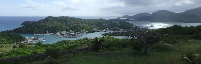 View of English Harbour and Falmouth Harbour, Antigua