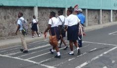 School kids at Charlestown, Nevis