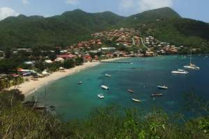 View of Petit Anse from Morne Champagne