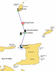 route to Trinidad