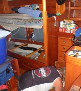 Cabling in a boat - fun fun fun!