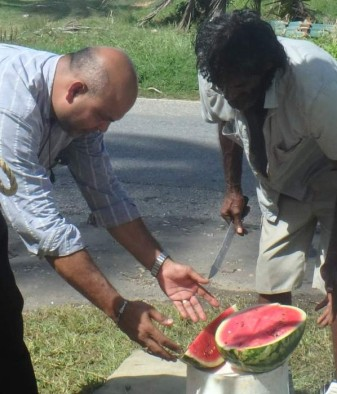 Jesse and watermelon man