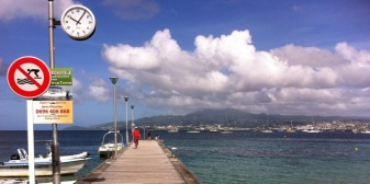 Ferry dock at Anse Mitan