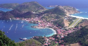 View of Iles des Saintes from Le Chameau