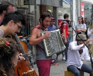 Busking on a sunny day