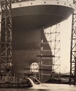 Huge rudder of Titanic