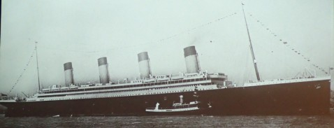 Nomadic a small vessel compared to Titanic