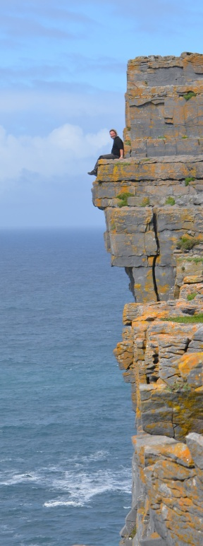 Wayne living on the edge, Inishmore, Aran Islands