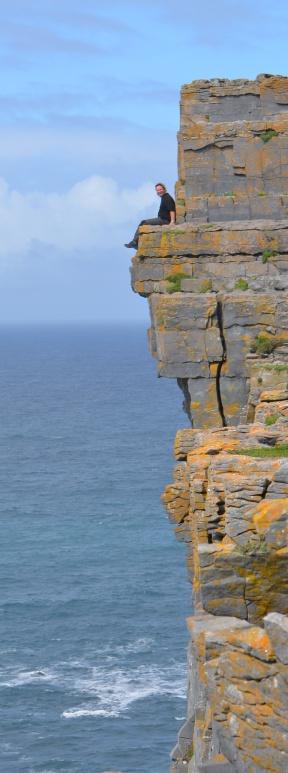 Wayne living on the edge, Inishmore, Aran Islands