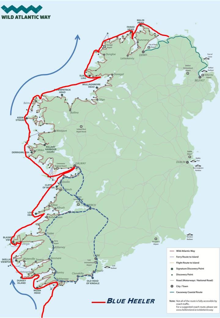 Map Of North West Ireland.Wild Atlantic Coast Northwest Ireland Sailing Blue Heeler