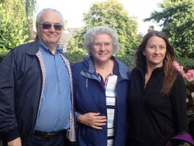 Harry, Ann and Ally at St Peter's Woolton