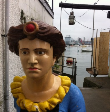 Old ship's figurehead