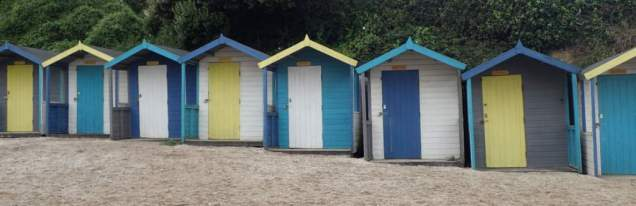 Beach boxes at Falmouth