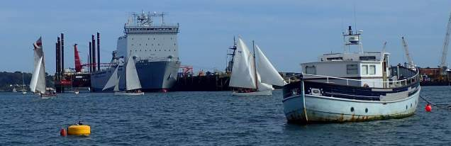 Variety of vessels, Falmouth