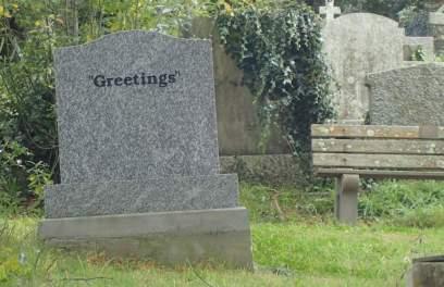 Strange headstone!