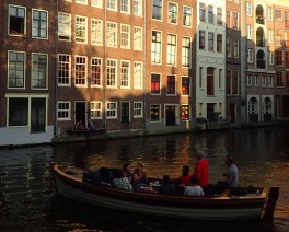 Casual canal cruise