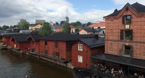 Old wooden warehouses, Porvoo