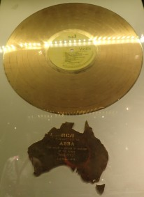 Gold record from Australia in 1976