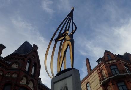 Windsbraut (Wind Bride) statue, Flensburg