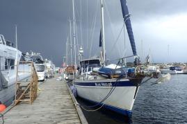 Arctic blow brings sleet at Arendal