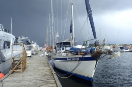 Arctic blow brings sleet at Arendal