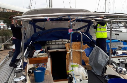Removing the bimini roof