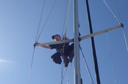 Checking rigging