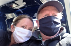 Face masks on the ferry